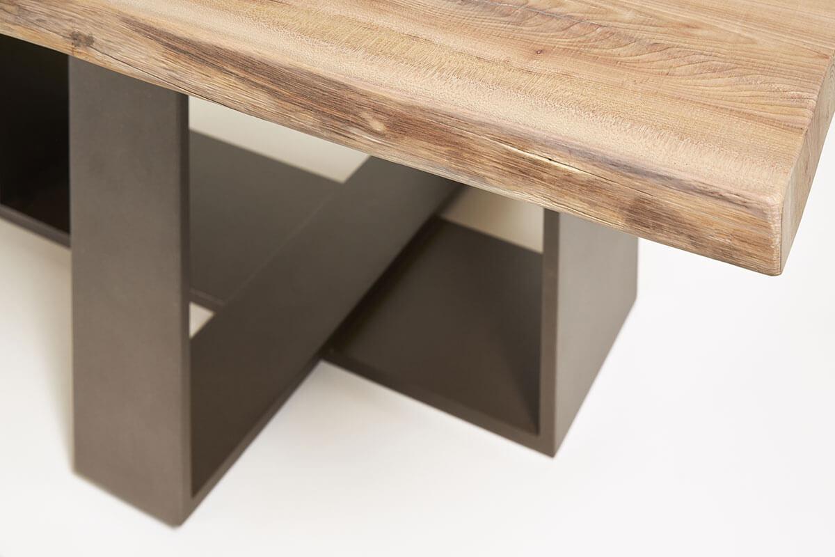 Tavolo legno e metallo
